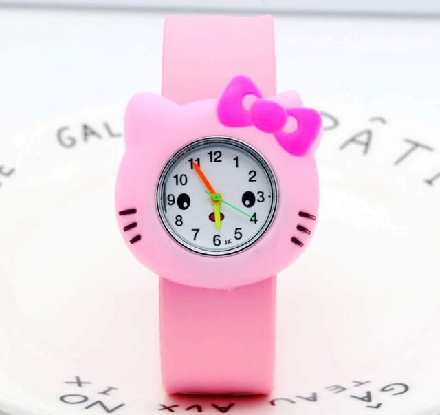 70c46de1d Cartoon Fashion Brand students Hello Kitty Quartz Watch Children Girl Women  slap Wrist Watch Kids Wristwatch Clock relogio