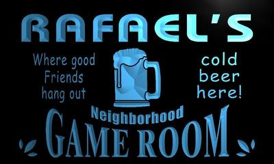 x0208-tm Rafaels Game Room Pub Bar Custom Personalized Name Neon Sign Wholesale Dropshipping On/Off Switch 7 Colors DHL