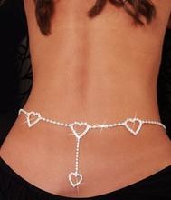 Nowa Europa i Ameryka burst sprzedaje talii łańcuch Rhinestone serce do serca ciała łańcucha 1K2027 tanie tanio Body Jewelry Moda Trendy Belly Chains Stop cynkowy Zhejiang Chiny (kontynent) Biały 2 * 2cm Kobiet