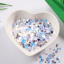 10g Nail Glitter Sequins Mini Paillette Colorful Round 3d Nail Decorations Mixed Star Heart Sequin DIY Manicure Accessories star shaped sequin manicure