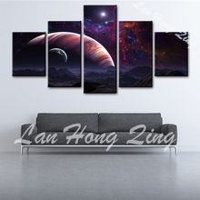 NEW 5 pcs about The sunset scenery beach canvas painting print on canvas for wall decoration oil painting coffee living room(China)
