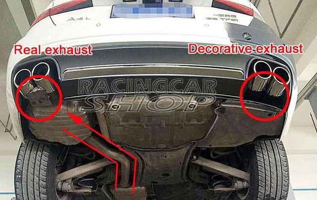 Quad Exhaust Muffler Tips Pip 1pair For Audi A4 B8 B9 Non Sline