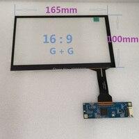 7 polegada tela de toque capacitiva de 165X100mm vidro temperado estrutura G + g USB plug and play livre unidade Universal 10 ponto para|Painéis de tela de toque|   -