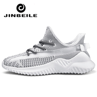 Newest 350 Men Sport Shoes Boost V2 Reflective Running Shoes Sneakers Summer Breathable Mesh Shoe Zapatillas Hombre Deportiva