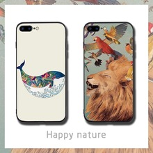 Whale Lion Painted  Phone Cases Cover for iphone X XR XS MAX 6 6s 7 8 Plus TPU Cover Coque For iphone 7 8Plus iphone 5SE Cases rick and motry phone cases cover for iphone x xr xs max 6 6s 7 8 plus tpu cover coque for iphone 7 8plus iphone 5se cases