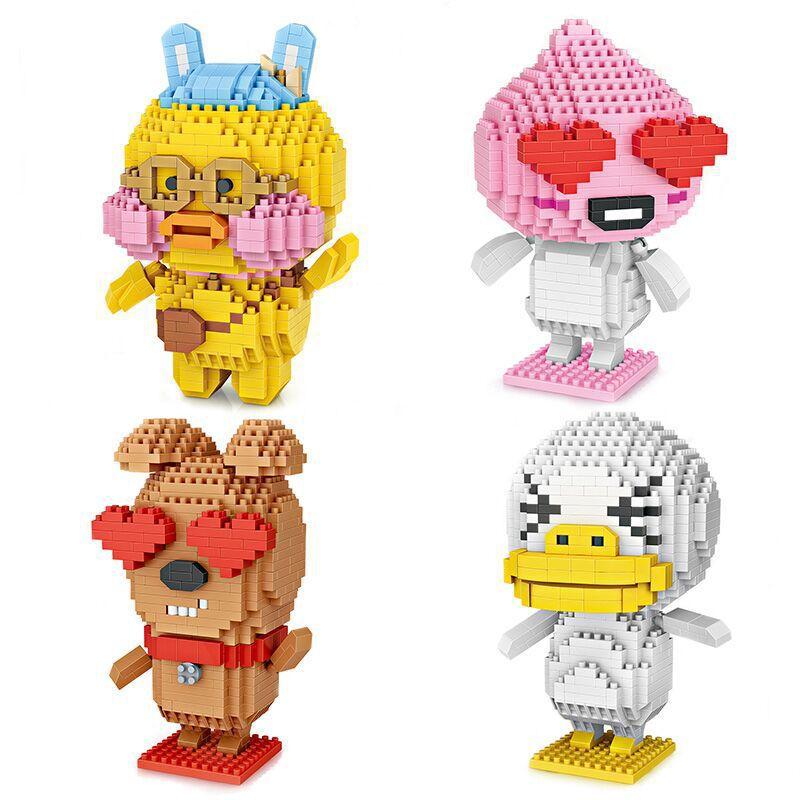 loz building blocks figures diamant blocs animaux mignons de bande dessinee pixels canard chien