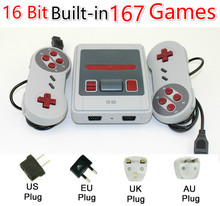 Built-In 167 Classic Game for 16b games Dual gamepad Mini TV Video Game Console 16 Bit Retro Handheld Family Video Game Player