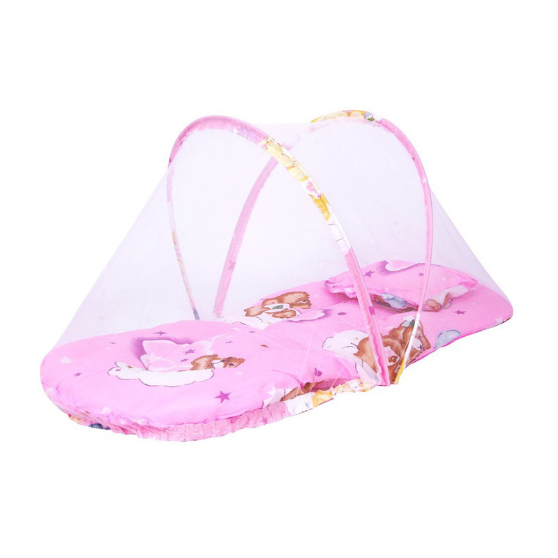 Fashion Portable Baby Bed Crib Floral Print Folding Mosquito Net Cross-Border Large Portable Folding Baby Mosquito Nets-Free Ins