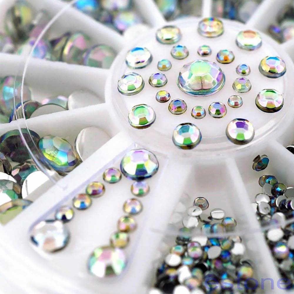 אופנה יהלומים מסנוור טיפים נייל מדבקת פאייטים צבעוני נייל אמנות קישוט ציפורניים קישוט אביזרי ozdoby לעשות paznokci