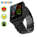 2g telefone do relógio inteligente zw80 sim suporte tf cartão de toque tela de Monitor De Freqüência Cardíaca Do Bluetooth 4.0 À Prova D' Água Para iOS Android samsung