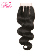 Fabc Hair Body Wave Closure 4x4 Inch Brazilian Human Hair Closure Hand Tied Closures 100 Remy