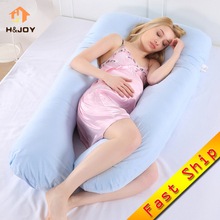 Беременность подушка постельное белье Подушка для всего тела для беременных женщин Удобная u-образная Подушка Длинная сторона спальный подушки для беременных