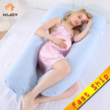 Pregnancy Pillow Bedding Full Body Pillow for Pregnant Women Comfortable U-Shape Cushion Long Side Sleeping Maternity Pillows(China)