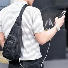 Men Breast Bags Casual Small Crossbody Backpack Korean Camouflage Sling Bag Back Pack Travel One Shoulder Strap Backpacks Bolsas