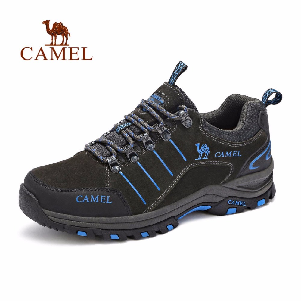 CAMEL 2018 New Trend Outdoor Lace-up Hiking Shoes Men Breathable Shock-absorption Anti-skid Walking Climbing Trekking Sneakers camel men summer air mesh outdoor hiking shoes breathable shock absorption lightweight walking climbing excursion sneakers