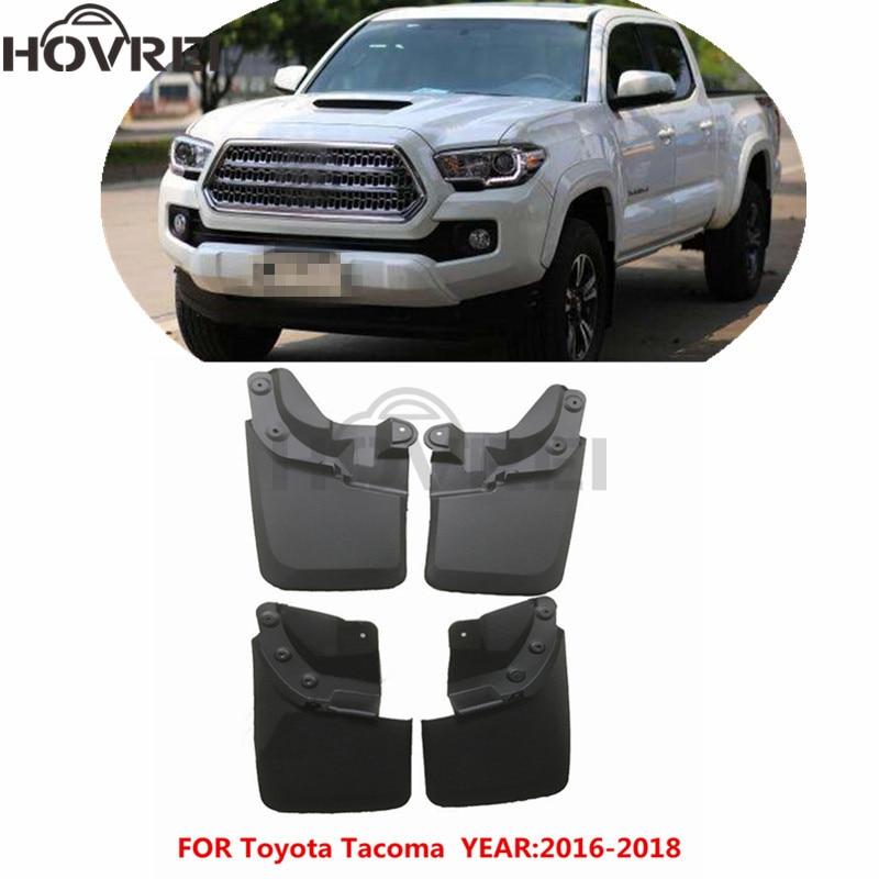 4PCS For Toyota Tacoma 2016-2017 Front Rear Splash Guards Mudguards Mud Flaps