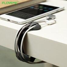 FLOVEME Desktop Cable Holder Winder 3 Port Holder Cable Organizer Management Office Silicon Phone Cable Winder