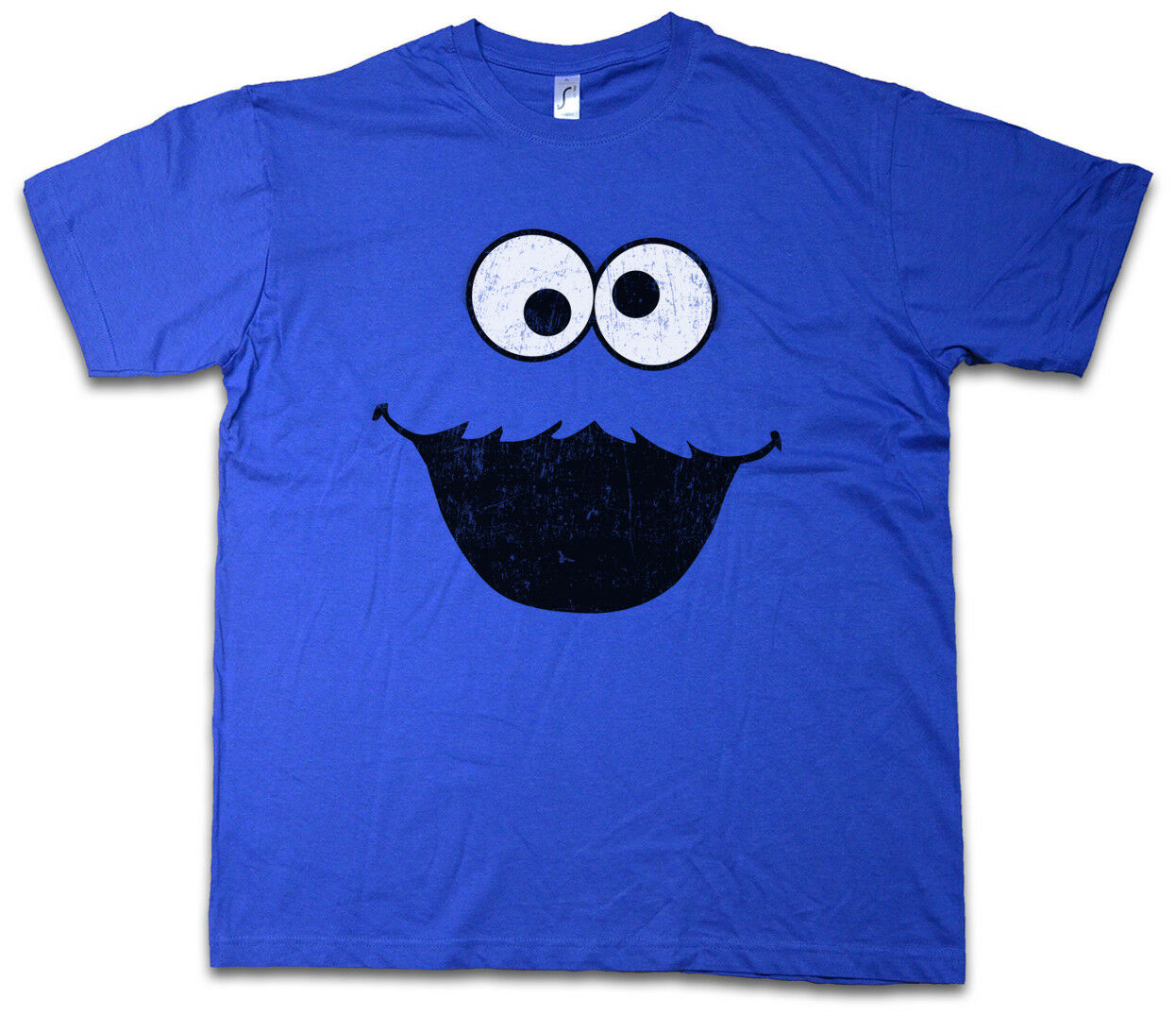 COOKIE MONSTER T-SHIRT Bert Puppet Sesame Monster Place Ernie TV USA Street image