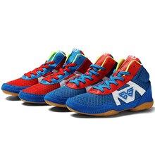 Mr. nut Профессиональная Детская борцовская обувь, боксерская обувь, универсальная спортивная обувь, размер 32-38 для вольной борьбы