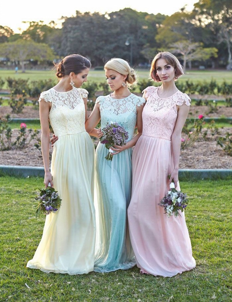 Pastal bridesmaid dresses images braidsmaid dress cocktail dress lace short sleeves bridesmaid gown navy bluepeachivorychampagne lace short sleeves bridesmaid gown navy bluepeachivorychampagnesilveryellowhunter chiffon ombrellifo Image collections