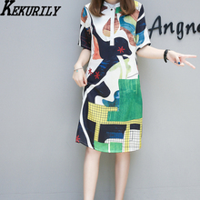 Plus size XL-3XL 4XL 5XL short t shirt dress Dashiki Ethnic Style women 2018 summer runway large dresses robe clothing