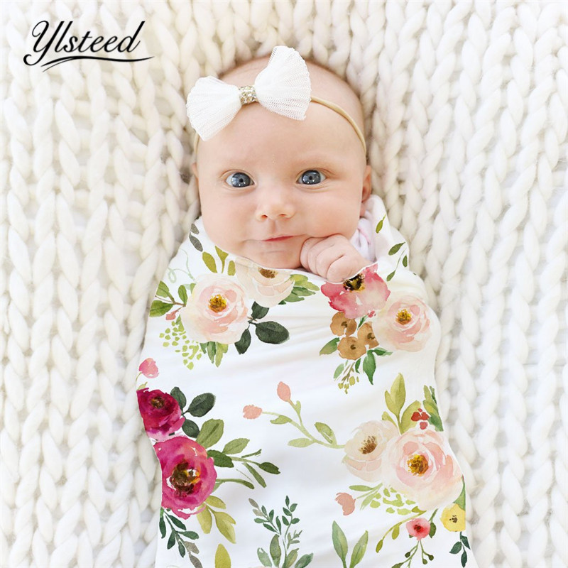 все цены на Ylsteed Newborn Baby Watercolor Floral Print Swaddle Blanket Super Soft Baby Sleeping Bag Muslin Wrap Newborn Photography Wrap