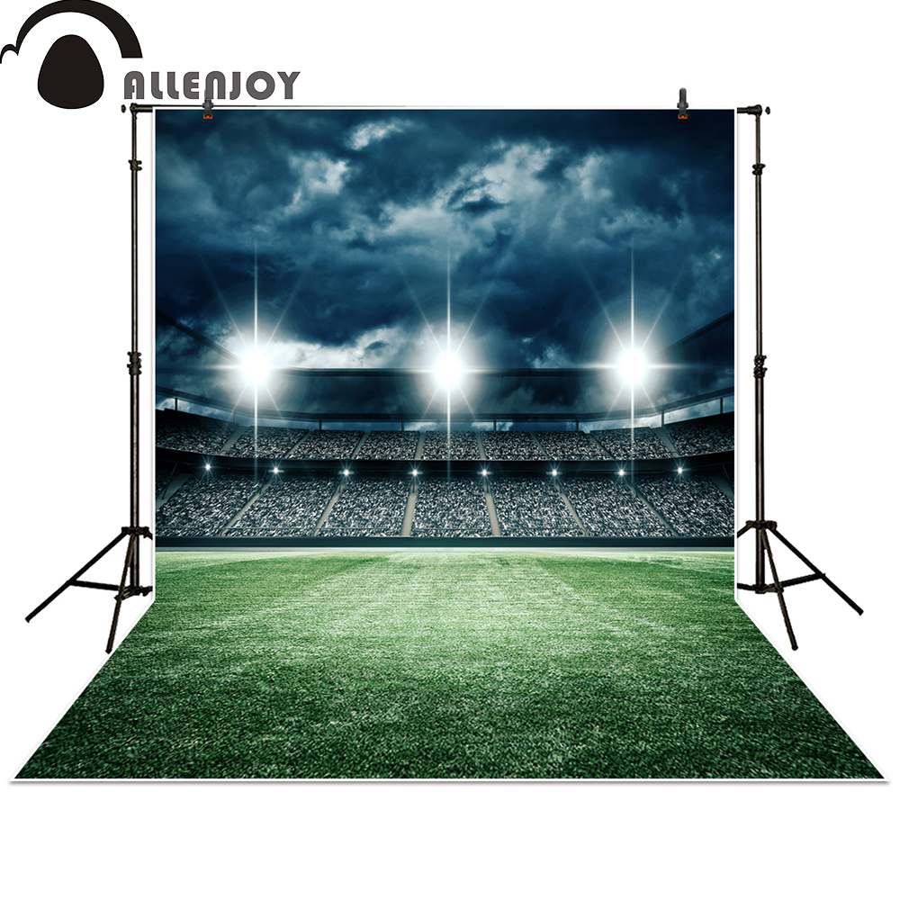 Allenjoy photography backdrops football soccer field grass champion sports night cloud photo studio background photocall 2008 donruss sports legends 114 hope solo women s soccer cards rookie card