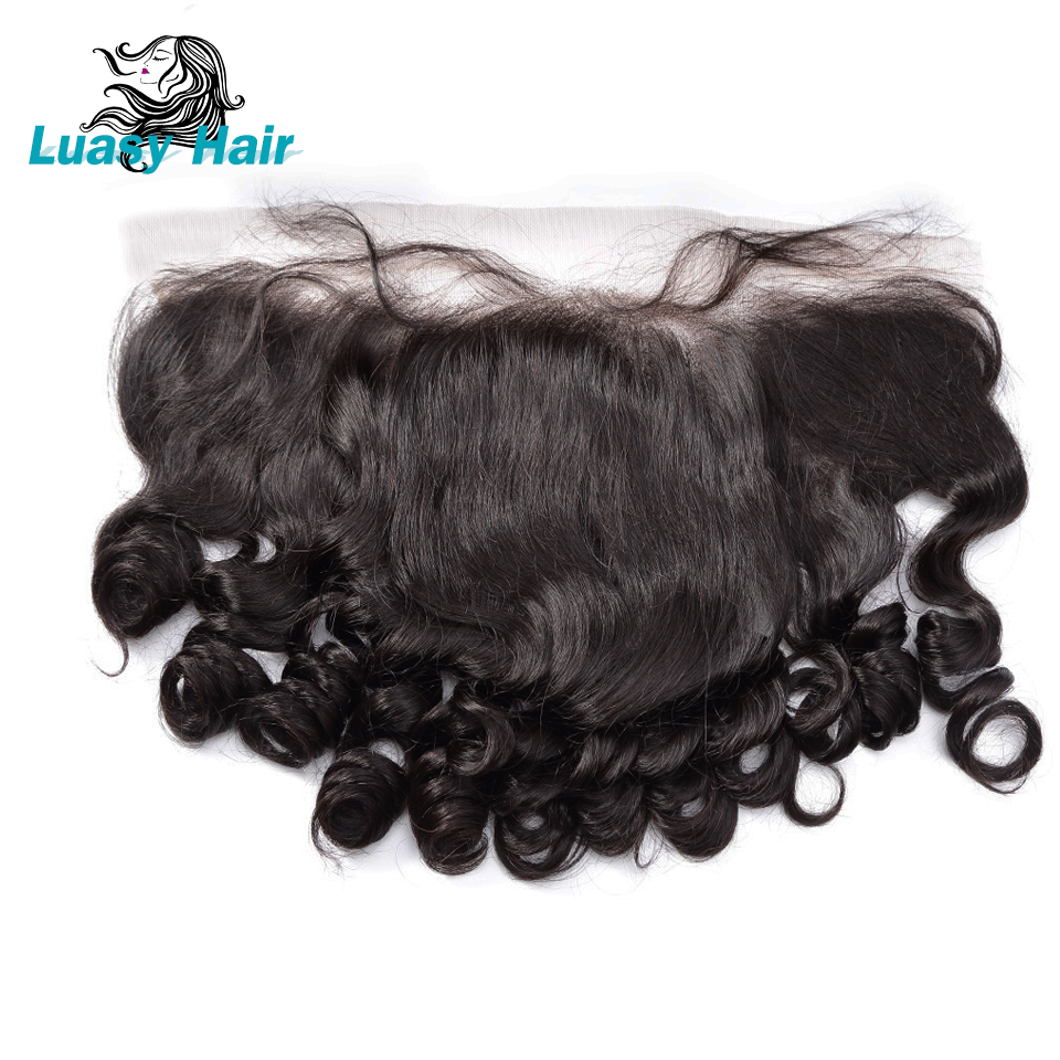 Luasy Brazilian Hair Lace Frontal Closure With Baby Hair Loose Wave 13X4 Ear To Ear Pre