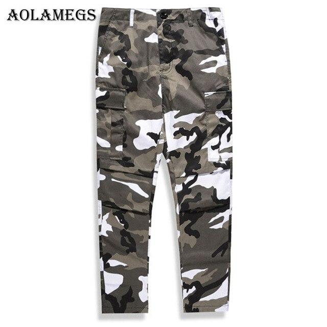 Aolamegs Pantalon Cargo Hommes Militaire Camouflage De Mode Pantalon Baggy  Tactique Pantalon Multi Couleur Coton De d1c0eaf433c