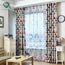 sinogem geometric triangular curtains blackout curtains for living room bedroom kids curtain children modern window curtain