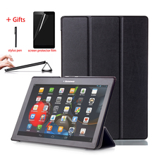 цены Slim Leather Smart Cover Case For Lenovo Tab 10 TB-X103F Tab 2 a10-30 Tab2 a10-70 Tab3 10 Plus Tab 10 Business Stand Tablet Case