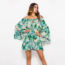 Lyprerazy Boho Casual Belt Lace Up Tunic Draped Flare Sleeve A line Dresses 59b226a75850