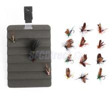 Ripple Fly Patch Dryer with Vest Clip Fishing Wet Flies Hooks for Trout Bass