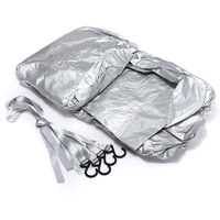 AUTO Waterproof Outdoor Car Top Cover Sun Rain Dust Snow Protection Silver M