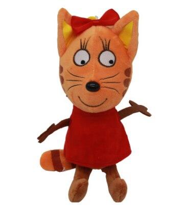 20/25 см с рисунком «Счастливый Кот», мальчика из трех котят Мягкие плюшевые игрушки Мягкий Животные кошка игрушка кукла детская брелок Рождественский подарок - Цвет: B