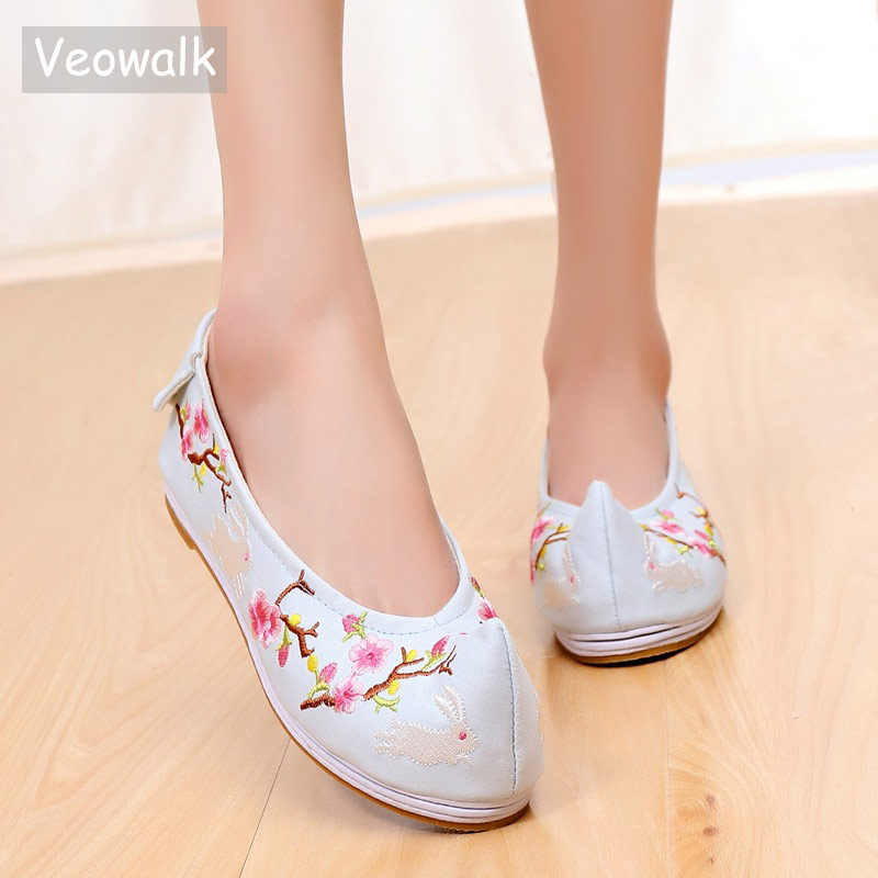 Appartements Coton Dames Femmes model model Slip Blue Brodé 1 Confort Chaussures Costume De Le Model Ballet White Bout Chinois Toile model Danse Pink Blue model 2 Opéra Casual Beige model Sur 4 3 Vintage Purple Veowalk Zxwgz0qW