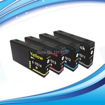 INK WAY 4PCS T7021-T7024 for WP-4000 Series WP-4500 Series WP-4015DN WP-4515DN WP-4095DN WP-4025DW WP-4535DW WP-4595DNF etc. фото