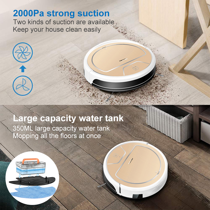 APP Controllable MOLISU V8S PRO ROBOT VACUUM CLEANER for home with dry and wet mopping