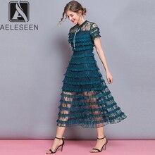 кружевное AELESEEN женское платье