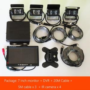 Image 2 - Lkw DVR Dash Kamera 4 Kanal Cam Backup Video Recorder Kit CCTV Rückansicht Monitor Auto Bus IR Nacht Vision visture D008