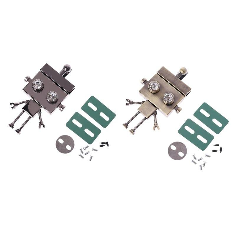 Robot Shape Clasp Turn Lock Twist Locks Metal Hardware For DIY Handbag Shoulder Bag PurseRobot Shape Clasp Turn Lock Twist Locks Metal Hardware For DIY Handbag Shoulder Bag Purse