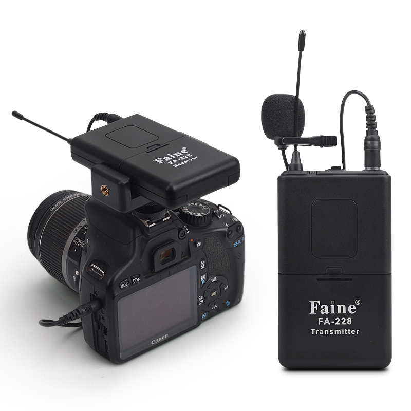 Professional Wireless Interview Microphone DSLR Camera Camera Mobile Phone DV Camera Video Receiver Live Microphone