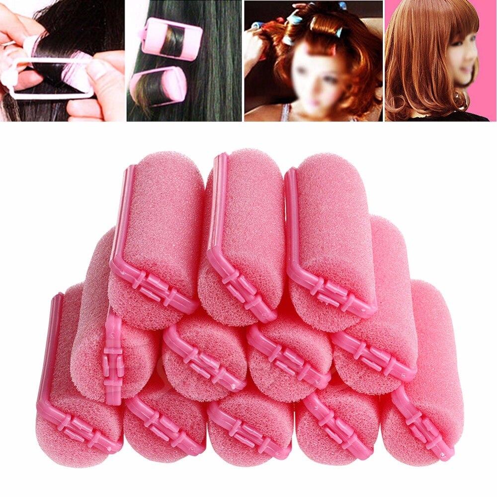 12pcs/set Soft Magic Sponge Foam Cushion Hair Rollers ...