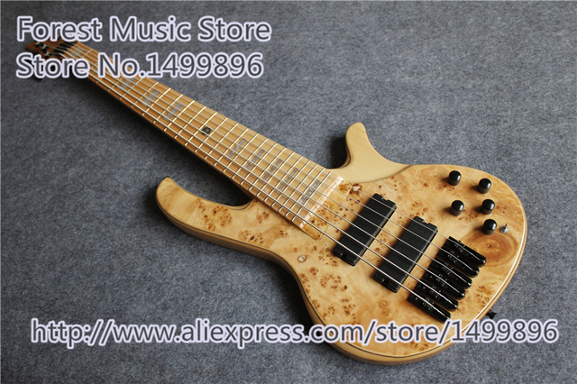 Cheap Hot Selling Dead Wood Finish deOlivera Electric Bass Guitar China 6 String Ash Body For Sale