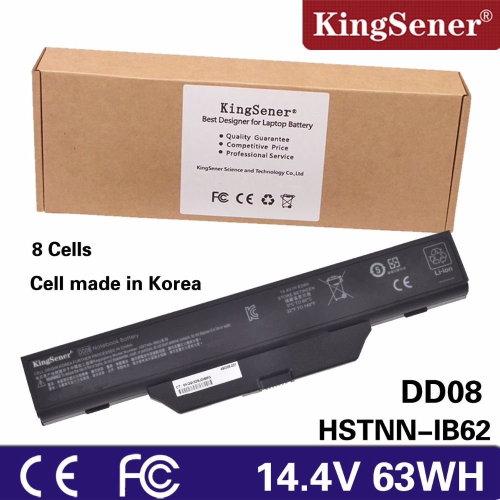 KingSener Korea Cell New DD08 Battery for HP 6720s 6730s 6735s 6830s 6820s COMPAQ 610 510 511 Notebook HSTNN-IB51 HSTNN-IB62 hp hp inc battery 6 cell notebook 470g3 450g3 455 g3