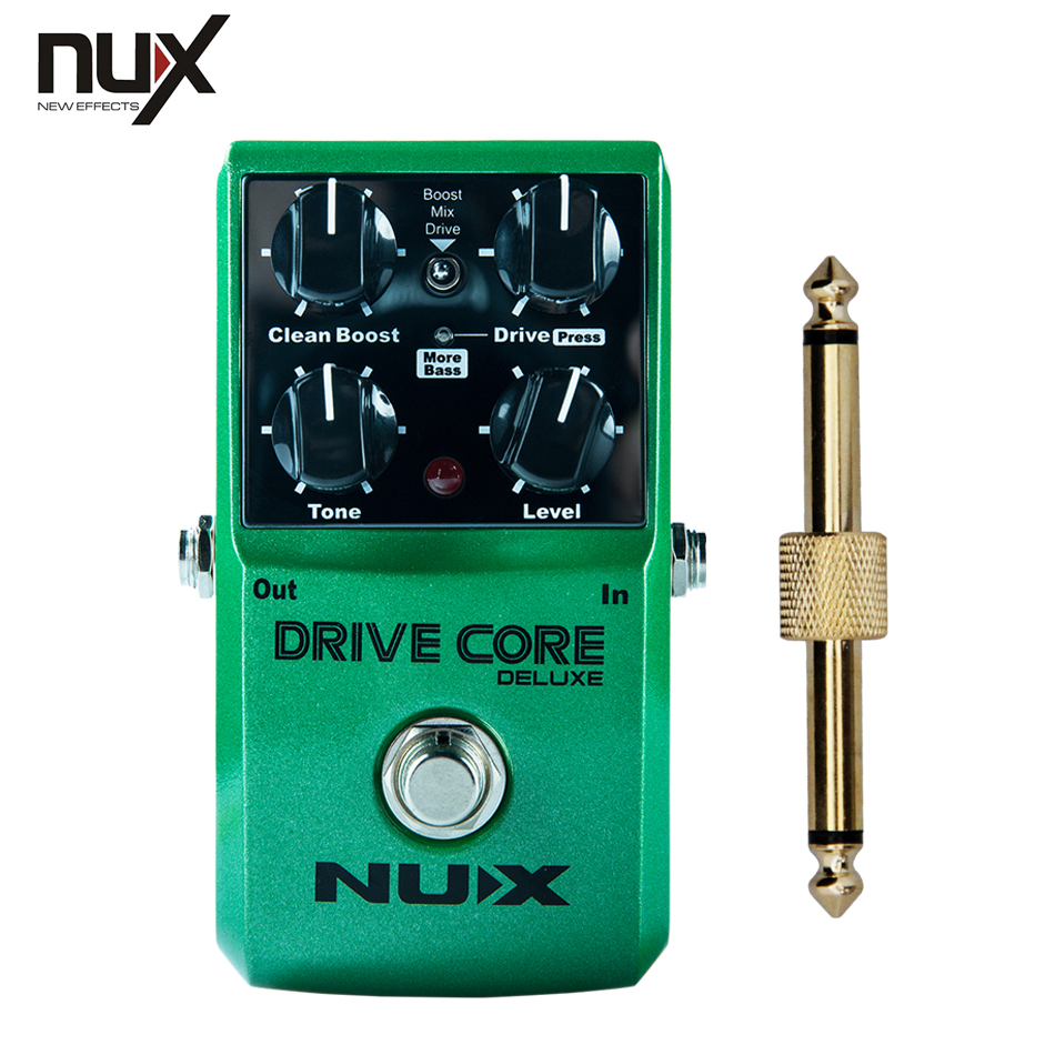 NEW NUX DRIVE CORE/Stomp Boxes / Core series, Overdrive Core True Bypass Guitar Effect Pedals +1 pc pedal connector nux roctary force simulator polyphonic octave stomp boxes electric guitar effect pedal fet buttered tsac true bypass