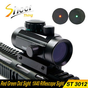 ST 3012 1x40 Red Dot RifleScope Sight with 11mm/20mm Picatinny Weaver Rail Mount of Hunting Scopes