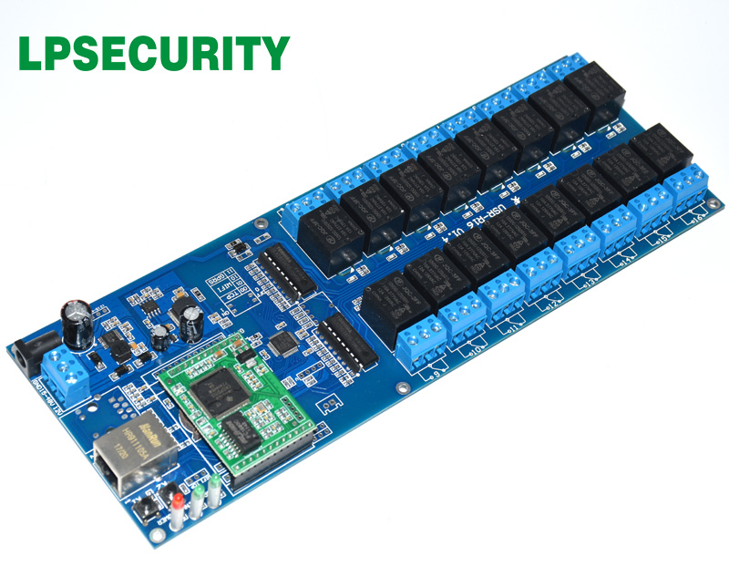 Image 3 - LPSECURITY LAN WAN RJ45 TCP/IP Industrial Network 16 Channels relay board controller/automation remote control switch module-in Building Automation from Security & Protection