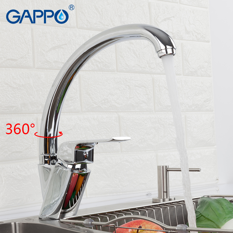 GAPPO Kitchen Faucet Chrome Kitchen Sink Faucets Water Mixer Kitchen Water Faucets Brass Faucet Mixer Tap Sink Taps