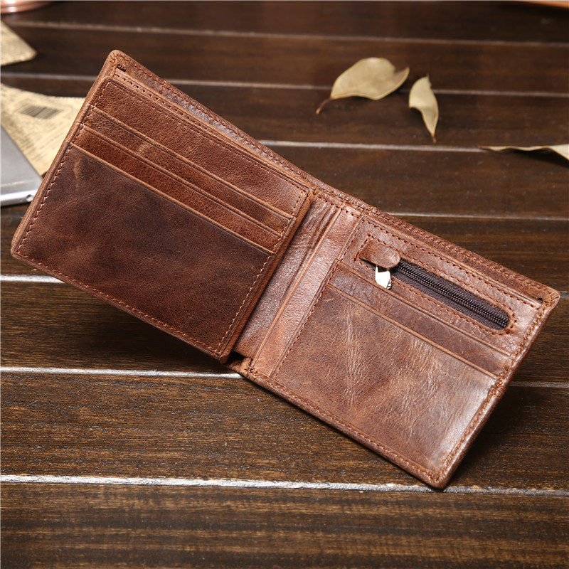 Fashion Vintage Men Wallet Soft Genuine Cowhide Leather Mens Wallets Money Cash Coin Purse For Male Pouch Clutch Bag Gifts ...